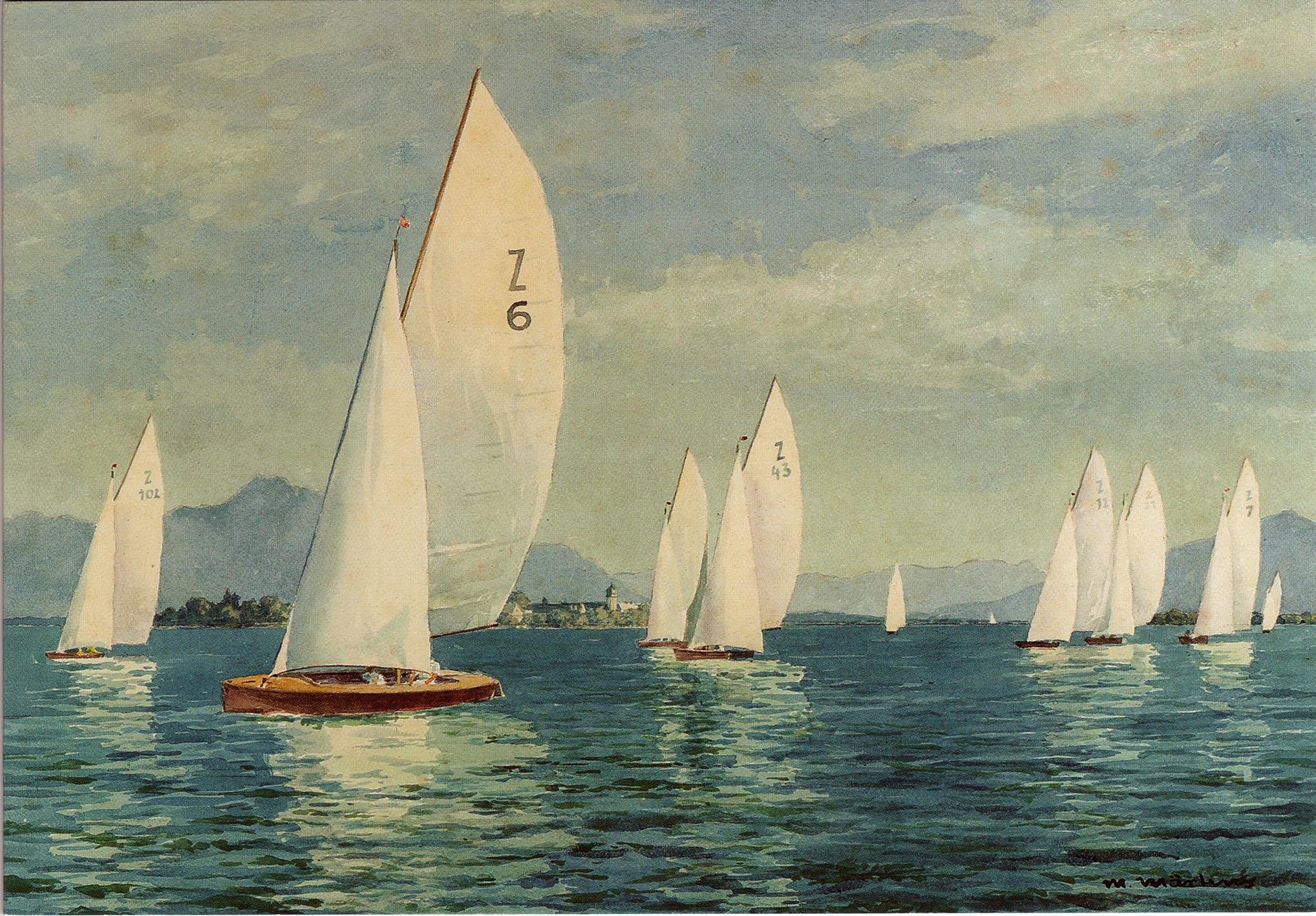 """""""Segelregatta"""" from Märtens 1930"""