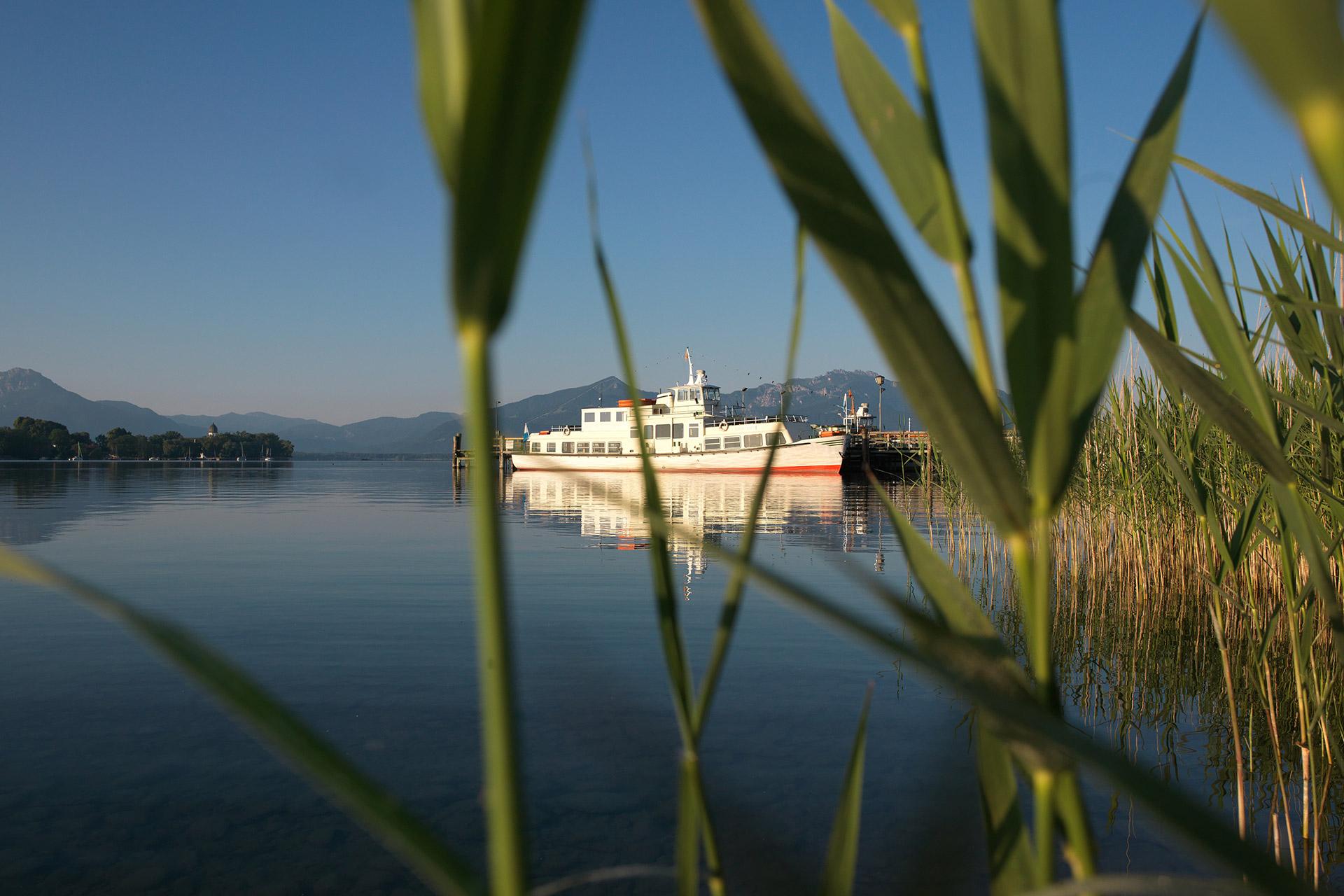 Con la barca da Gstadt … (Foto: © Ulli Seer)