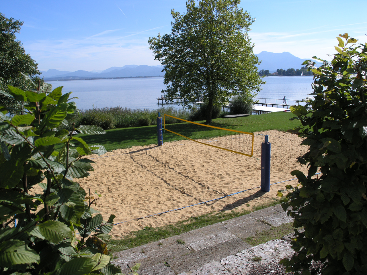 The beach volleyball court at Hofanger in Gstadt (Foto: © Ulli Reiter)